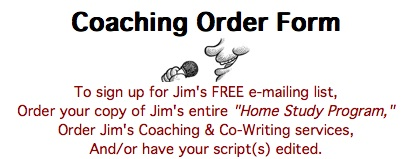 Coaching Order Form for all Jim's products and services.