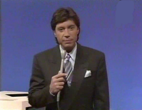 "Ross Shafer hosts ""Match Game"" TV show."